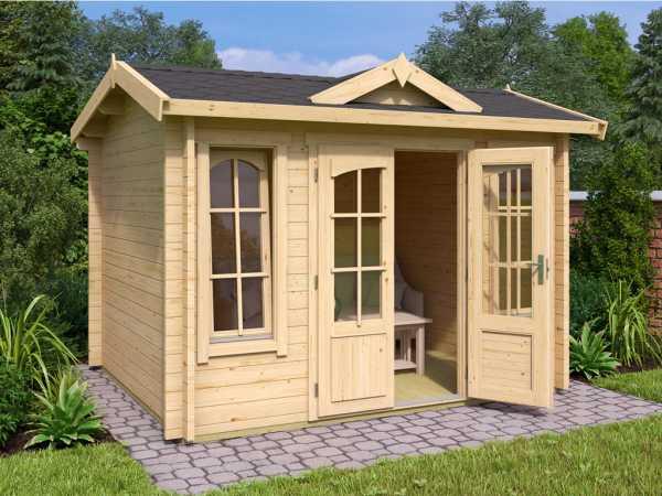 "Gartenhaus Blockbohlenhaus ""Windsor Mini"" 44 mm naturbelassen"