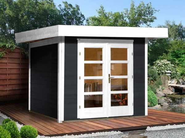 Gartenhaus Designhaus 126 Plus Gr. 2 anthrazit