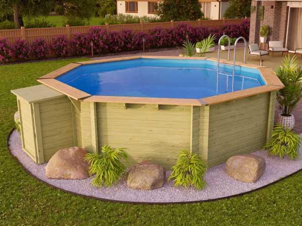 "Pool Holzpool SET ""Premium Modell 2 A"" inkl. Komfort Ausstattung"