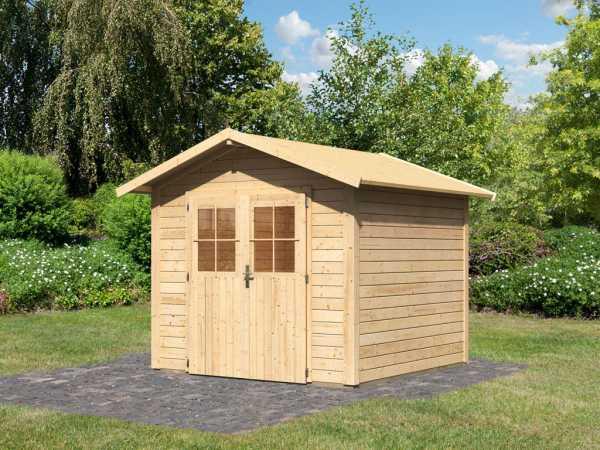 gartenhaus linau 4 28 mm naturbelassen wo0219. Black Bedroom Furniture Sets. Home Design Ideas