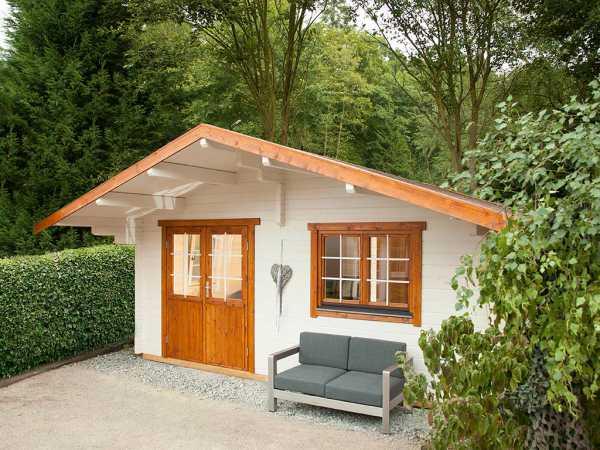 """Gartenhaus Blockbohlenhaus """"Lappland 70-B XL"""" 70 mm naturbelassen"""