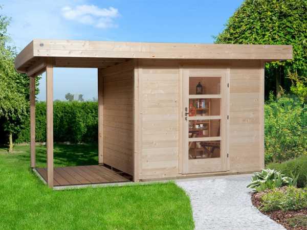 Gartenhaus Designhaus 172 A Gr. 2 28 mm naturbelassen
