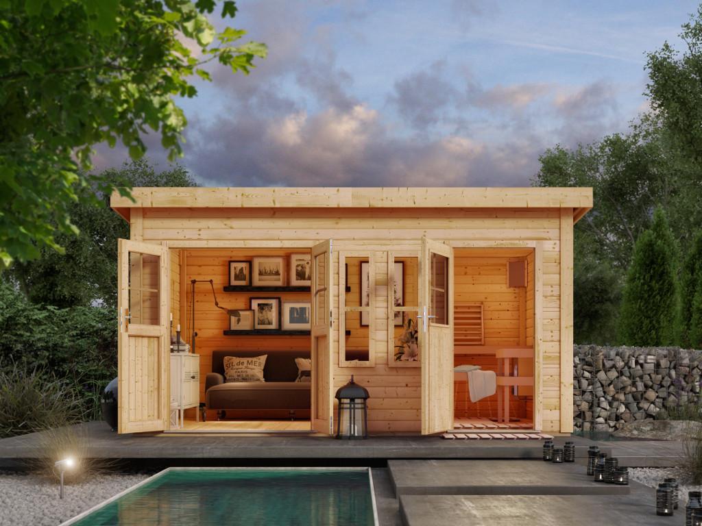 garten saunahaus preisvergleiche erfahrungsberichte und. Black Bedroom Furniture Sets. Home Design Ideas