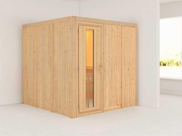 Systemsauna Rodin Holztür mit Isolierglas