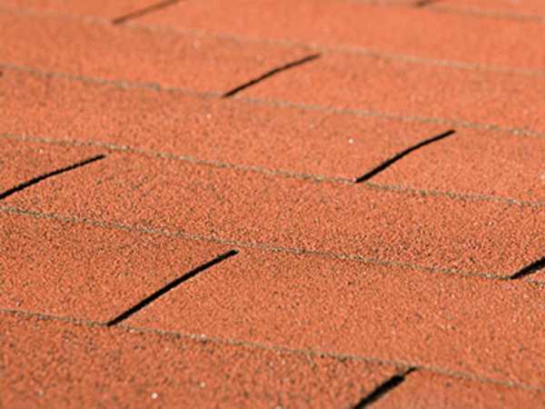 Bitumen Dachschindeln rechteckig rot 3 m²