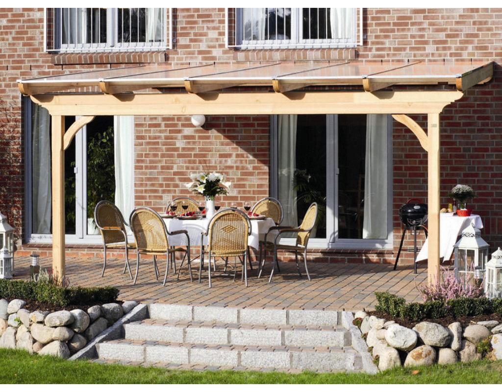 Terrassenüberdachung  Ravenna  naturbelassen  SH0034