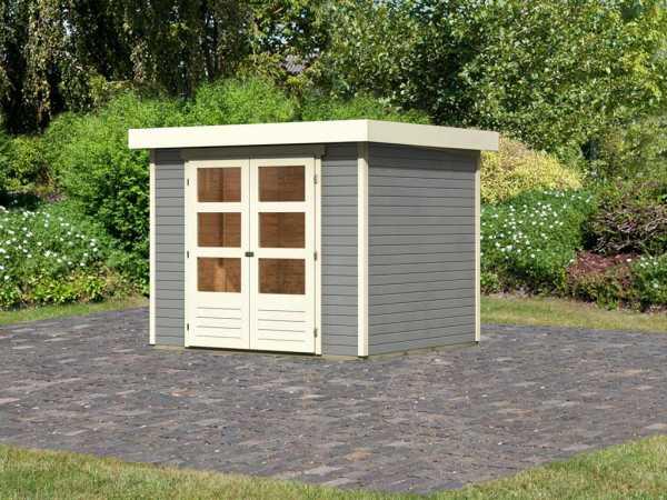 "Gartenhaus ""Askola 3"" 19 mm seidengrau"