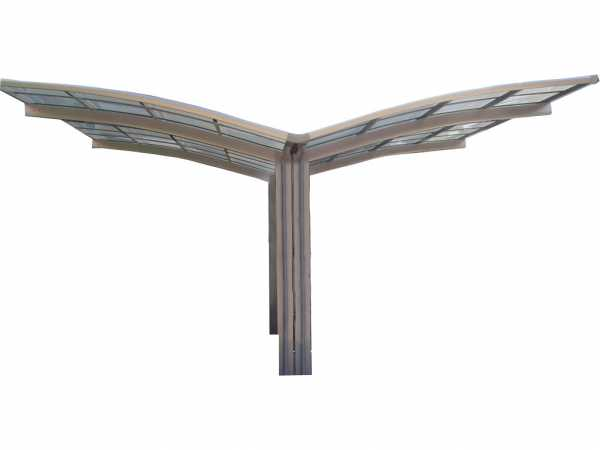Carport Portoforte Typ 80 Y-Ausführung Edelstahl-Look