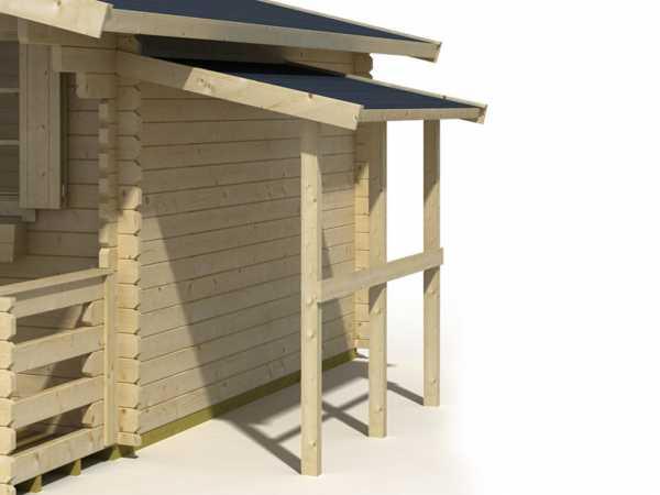 Schleppdach A 240 cm für Gartenhhäuser carbongrau
