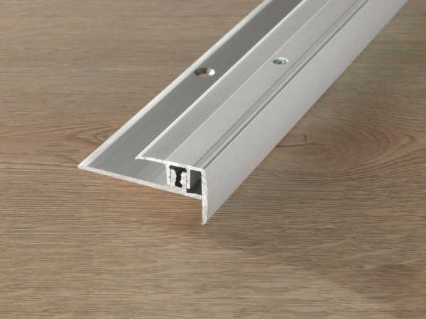 Treppenkantenprofil PROSTEP Aluminium eloxiert Silber