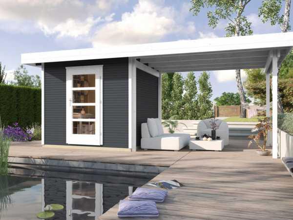 Gartenhaus Designhaus wekaLine 172 B Gr. 1 28 mm anthrazit