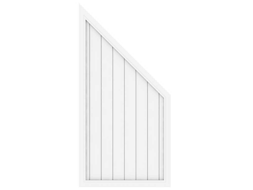 Sichtschutzzaun Longlife Riva Abschlusselement Weiss