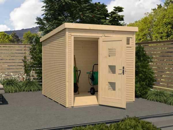 Gartenhaus Designhaus wekaLine 171 Gr. 1 28 mm naturbelassen