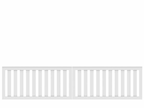 Vorgartenzaun LONGLIFE CLEO Doppertor Weiß