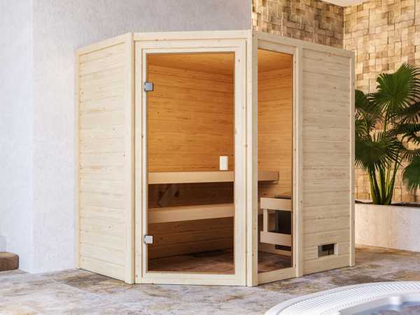 Sauna Jada mit bronzierter Glastür