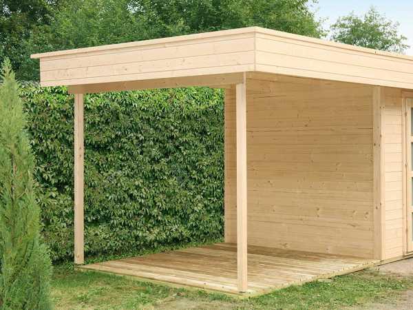 Seitendach Set für Gartenhaus Varianta 28 mm naturbelassen