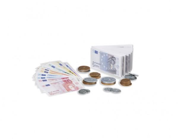 Euro-Spielgeld, 105 Scheine, 29 Plastikmünzen
