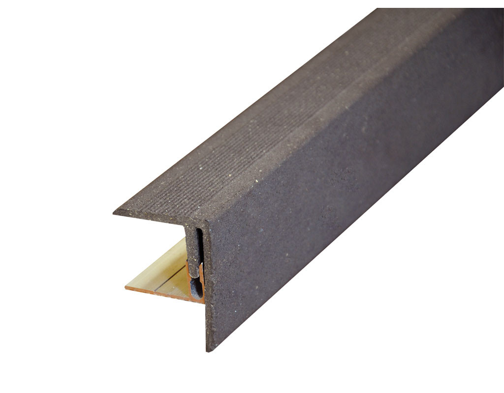 wpc seitenabschluss inkl alu befestigung graubraun geb rstet 716014. Black Bedroom Furniture Sets. Home Design Ideas