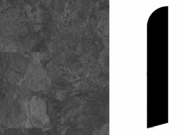 Sockelleiste Rustic Slate Black Dekor