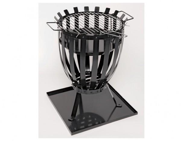 feuerkorb mit grilleinsatz 11760 dekoartikel gartendekoration garten holzprofi24. Black Bedroom Furniture Sets. Home Design Ideas