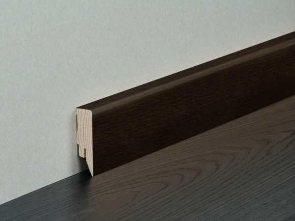 Sockelleiste Topline Räuchereiche lackiert Nadelholzkern