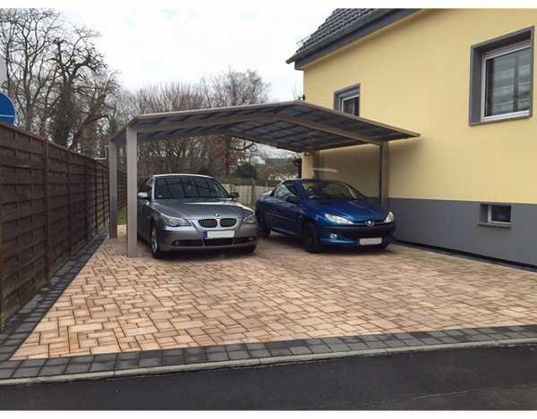 Carport Linea Typ 60 M-Ausführung Edelstahl-Look