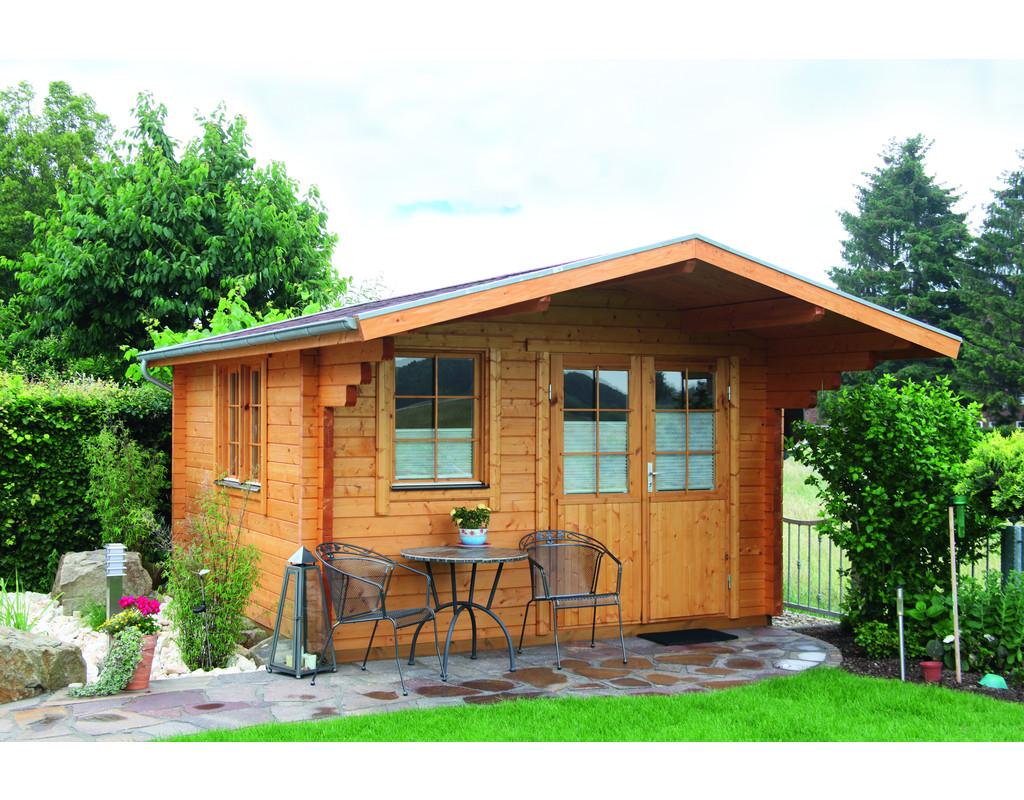 gartenhaus blockbohlenhaus nordkap 70 c 70 mm naturbelassen wf0541. Black Bedroom Furniture Sets. Home Design Ideas