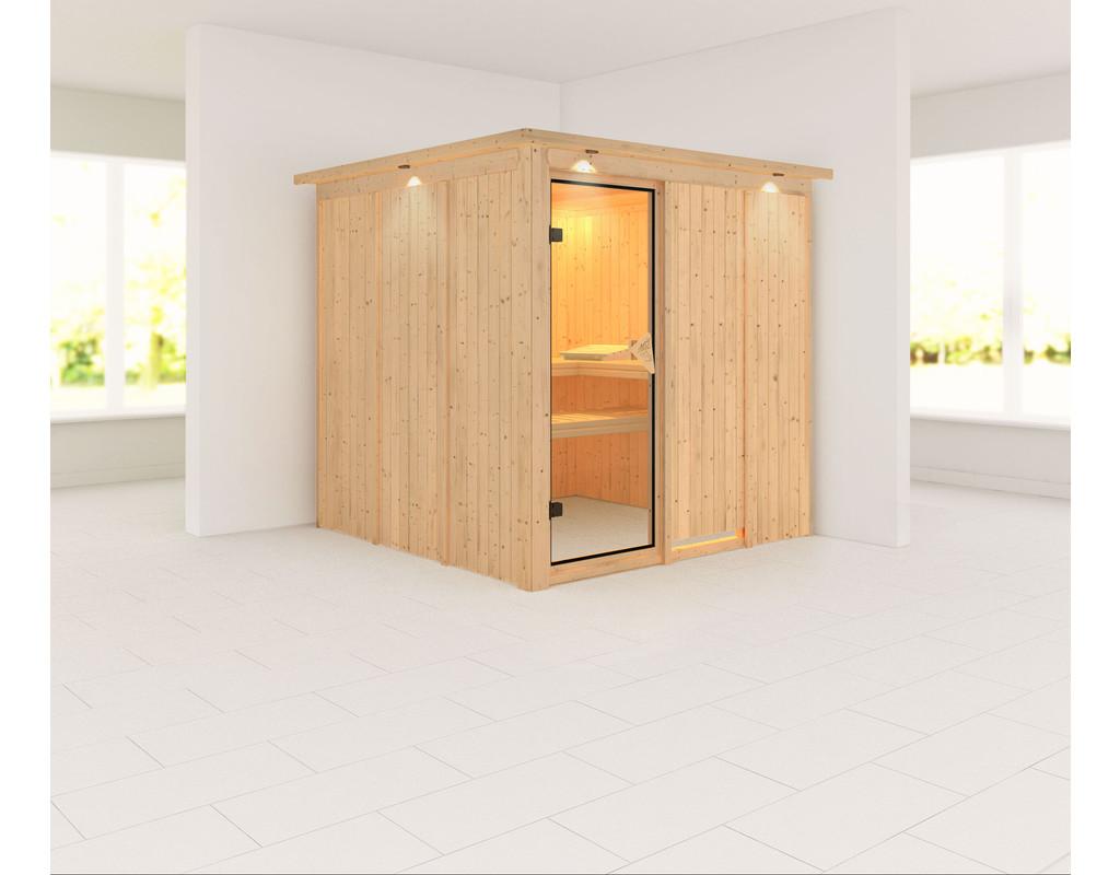 sauna systemsauna rodin mit dachkranz ka1736. Black Bedroom Furniture Sets. Home Design Ideas