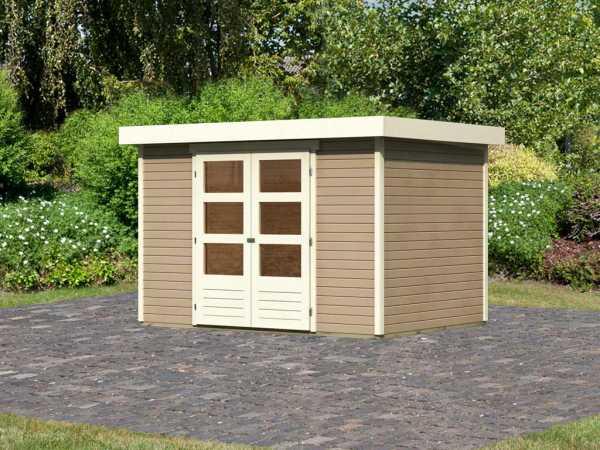 "Gartenhaus ""Askola 4"" 19 mm sandbeige"