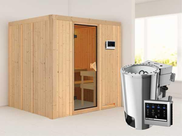 Sauna Systemsauna Daria inkl. Plug & Play Bio-Ofen externe Steuerung