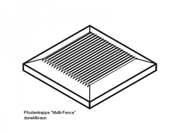 Pfostenkappe BPC Multi Fence dunkelbraun