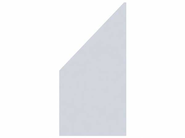 Sichtschutzzaun SYSTEM GLAS MATT Abschlusselement Links