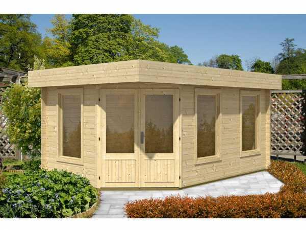 gartenhaus blockbohlenhaus maja 40 b 1 raum 40 mm naturbelassen wf1224. Black Bedroom Furniture Sets. Home Design Ideas