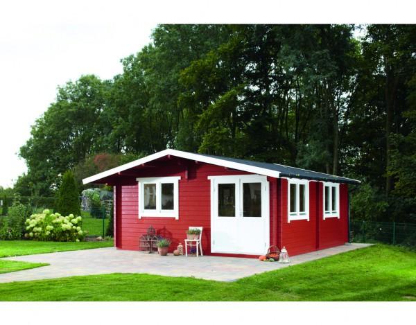 Gartenhaus Blockbohlenhaus Nordkap 70-G 70 mm naturbelassen