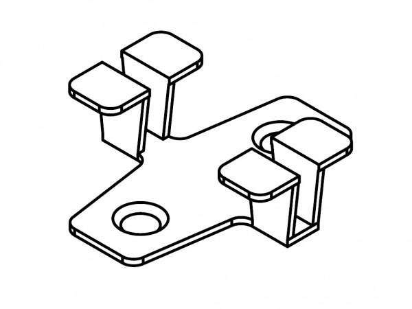 Befestigungsclip Multi-Deck 25 mm schwarz