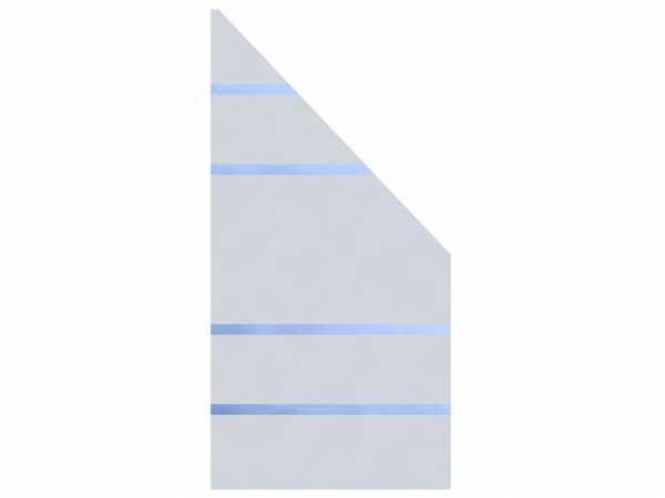 Sichtschutzzaun SYSTEM GLAS ALPHA Abschlusselement Rechts