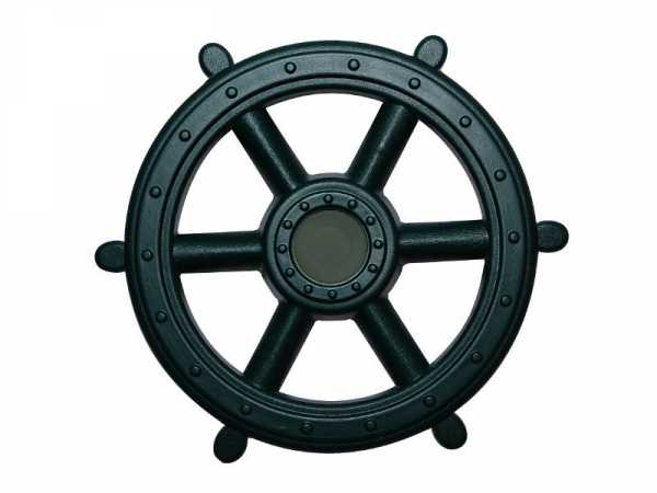 Piraten Lenkrad Steuerrad dunkelgrün Ø 41 cm