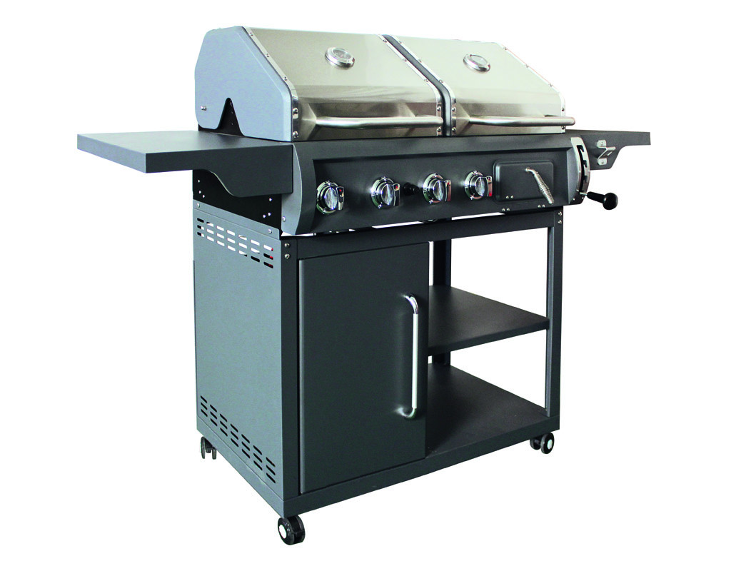 Kohle gas kombigrill buffalo tp0014 for Grill kohle anzunden