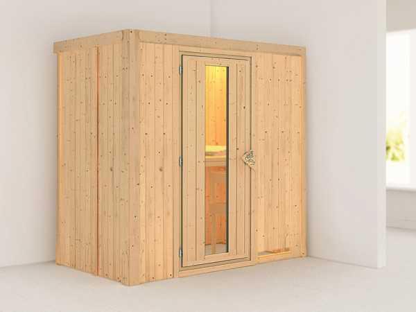 Systemsauna Variado Holztür mit Isolierglas