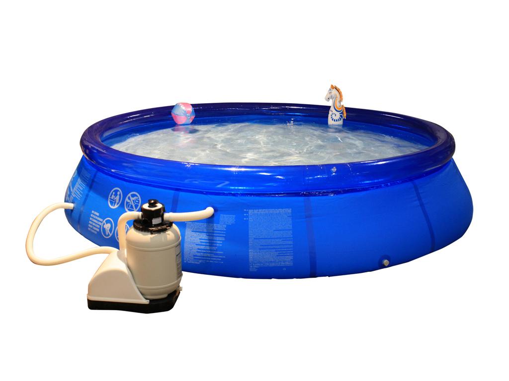 poolset pool schwimmbecken swimmingpool mit sandfilter poolleiter plane 366cm ebay. Black Bedroom Furniture Sets. Home Design Ideas
