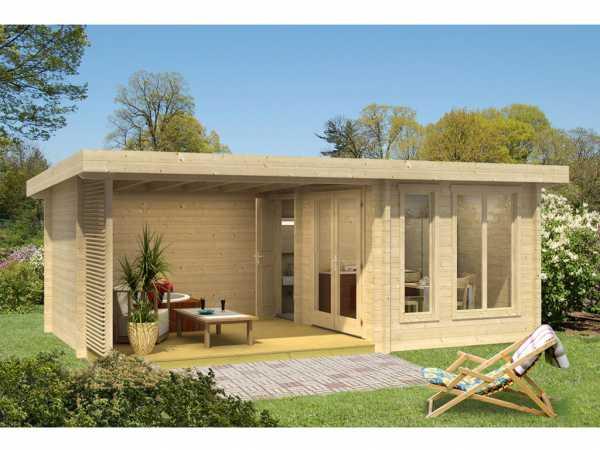 Gartenhaus Blockbohlenhaus Weekendhaus 441 44 mm naturbelassen