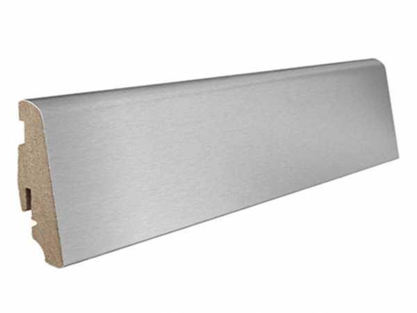 Steck-Sockelleiste Aluminium furniert, matt versiegelt