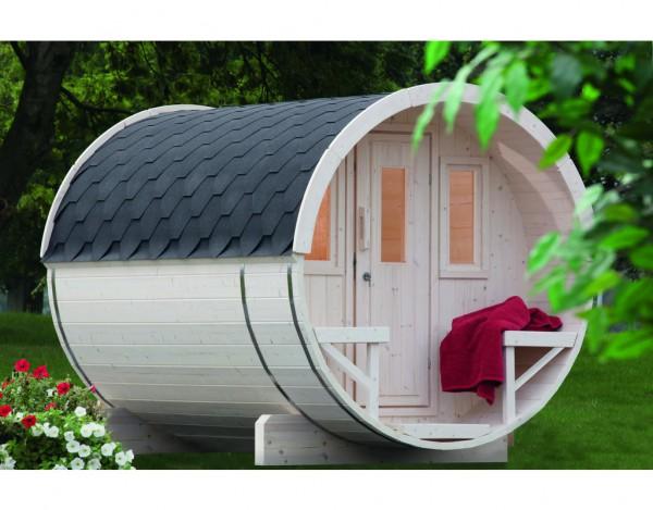 Saunafass 280 Bausatz schwarz 42 mm naturbelassen