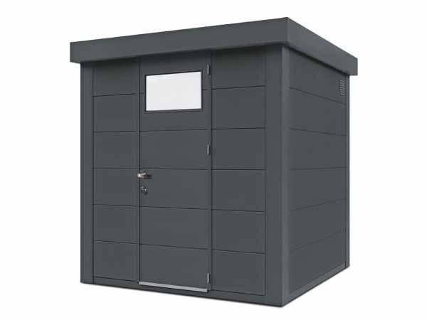 Gerätehaus aus Metall Eleganto 2121 Granitgrau