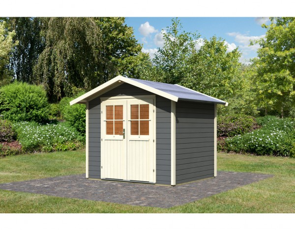 gartenhaus ger tehaus bornholm classic 28 mm terragrau. Black Bedroom Furniture Sets. Home Design Ideas
