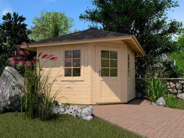Gartenhaus 149 Gr. 1 28 mm naturbelassen