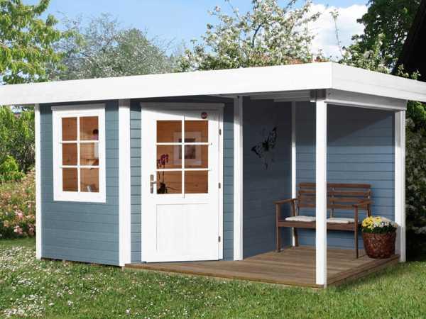 Gartenhaus Designhaus 213 A Gr. 1 28 mm grau