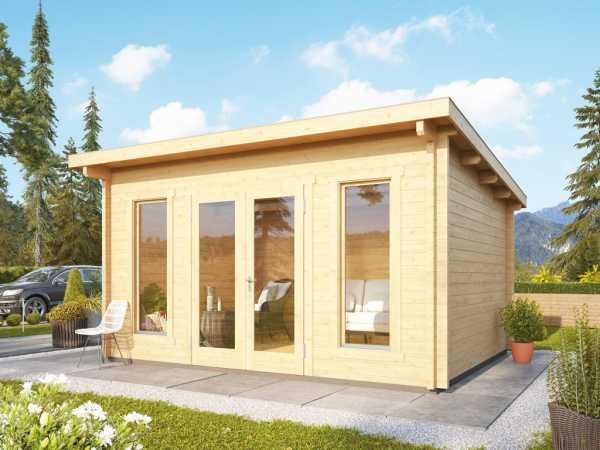 Gartenhaus Blockbohlenhaus Stavanger 3 70 mm naturbelassen inkl. Fußboden