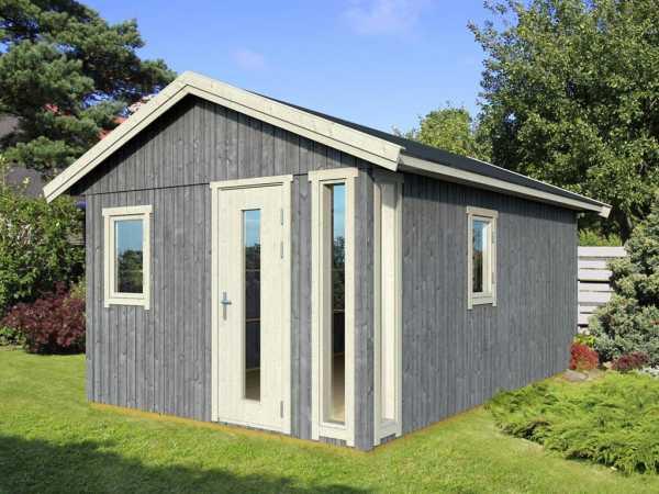 Gartenhaus Nordic Plus 19 19 mm naturbelassen