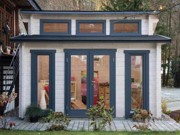 "Gartenhaus Blockbohlenhaus ""Langeoog 58-C"" 58 mm naturbelassen"